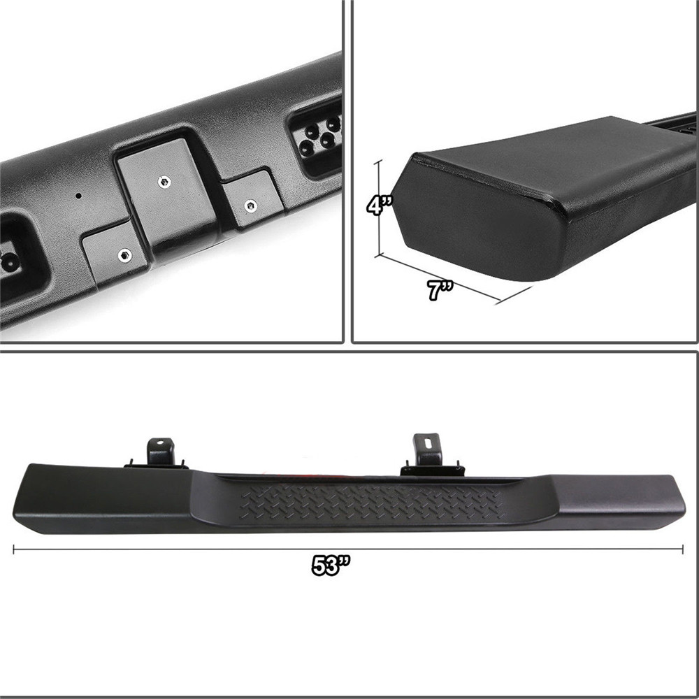 Black ABS Style Side Step Nerf Bars Running Boards FIT 07-18 Jeep Wrangler JK 2 Door