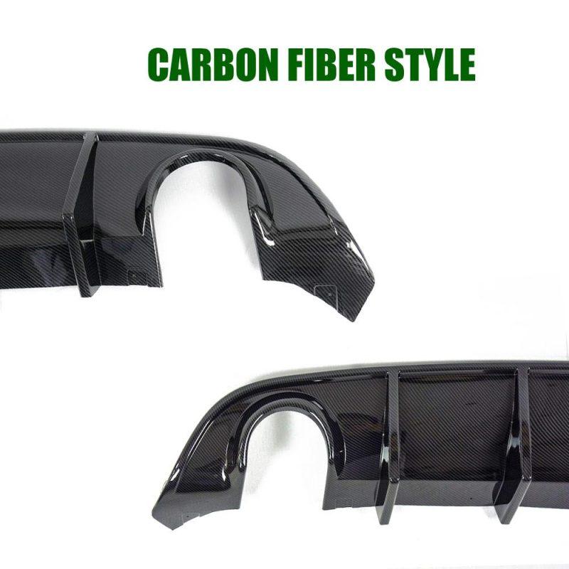 Rear Lip Bumper Fits 15-19 Dodge Charger SRT Carbon Fiber Style Valance Diffuser pp