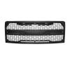 2015 2016 2017 FORD F150 MONSTER UPPER GRILLE SPORTS RAPTOR- ABS PLASTIC MATTE BLACK WITH 3 HEAD LED LIGHTS
