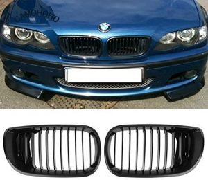 Matte black BMW grill